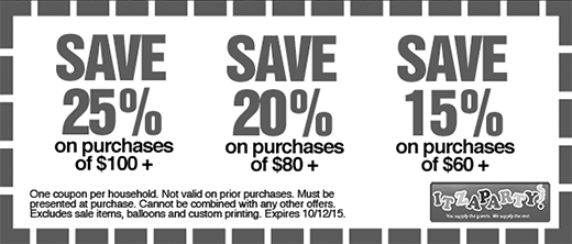Itzaparty coupons