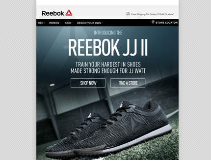 Reebok Classics email campaign
